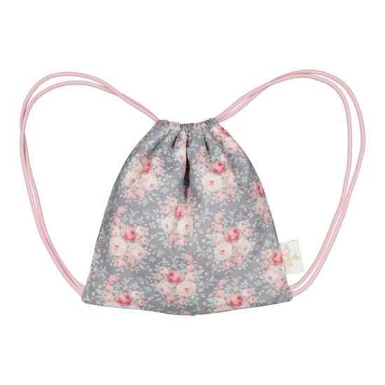 sac à dos bébé coton fleuri